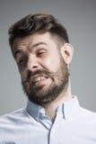 Portrait d'homme dégoûté Photo libre de droits