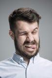 Portrait d'homme dégoûté Photographie stock libre de droits