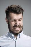 Portrait d'homme dégoûté Images libres de droits