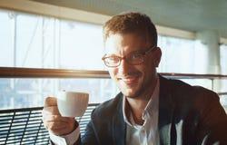 Portrait d'homme d'affaires avec du charme images libres de droits
