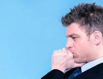 Portrait d'homme d'affaires concentré Photo stock