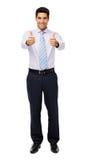 Portrait d'homme d'affaires Gesturing Thumbs Up Photographie stock libre de droits