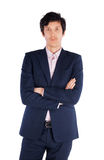 Portrait d'homme d'affaires réussi. D'isolement dessus Image stock