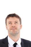 Portrait d'homme d'affaires recherchant et de sourire Photo libre de droits