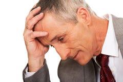 Portrait d'homme d'affaires soumis à une contrainte et fatigué Image libre de droits