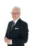 Portrait d'homme d'affaires supérieur bel Photographie stock libre de droits