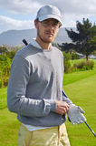 Portrait d'homme de golf photo stock