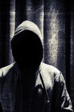 Portrait d'homme incognito sous le capot Photo libre de droits