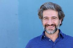 Portrait d'homme mûr élégant de sourire avec l'espace de copie Photo stock