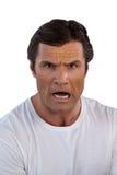Portrait d'homme mûr choqué Photo stock