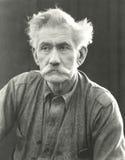 Portrait d'homme supérieur avec la moustache touffue Image libre de droits