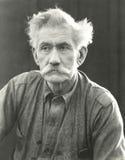 Portrait d'homme supérieur avec la moustache touffue Images libres de droits