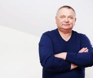 Portrait d'homme supérieur avec le copie-espace Photo stock