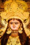 Portrait d'idole indou de Jagadhatri de déesse pendant la célébration de Jagadhatri Puja photos stock