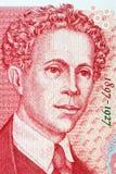 Portrait d'Ivan Milev Lalev d'argent bulgare Photo libre de droits