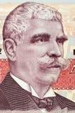 Portrait d'Ivan Minchov Vazov d'argent bulgare Photo libre de droits