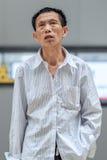 Portrait d'un aîné chinois, Pékin, Chine Images stock