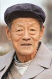 Portrait d'un aîné chinois, Pékin, Chine Image libre de droits