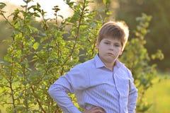 Portrait d'un adolescent dans la nature à l'été Image stock