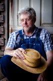 Portrait d'un agriculteur Photographie stock