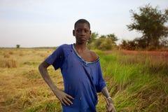 Portrait d'un agriculteur dans Mopti, Mali 2012 Image libre de droits