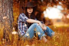 Portrait d'un agriculteur de jeune femme photo libre de droits