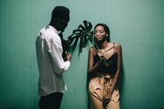 Portrait d'un beau couple d'Afro-américain photos stock