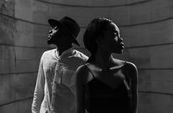 Portrait d'un beau couple d'Afro-américain images stock