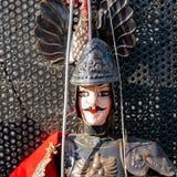 Portrait d'un caractère célèbre des marionnettes Créé par un puparo principal encore actuel Il dérive de la tradition des marionn images libres de droits
