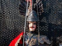 Portrait d'un caractère célèbre des marionnettes Créé par un puparo principal encore actuel Il dérive de la tradition des marionn image stock