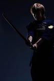Portrait d'un combattant de kendo Photographie stock libre de droits