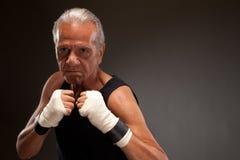 Portrait d'un combattant supérieur prêt à combattre Photo stock