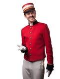 Portrait d'un concierge (portier) images libres de droits