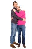 Portrait d'un couple d'homosexuel d'hommes Image stock