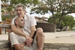 Portrait d'un couple gai Image libre de droits