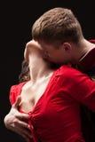 Portrait d'un couple passionné Images libres de droits