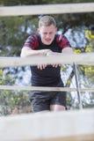 Portrait d'un coureur épuisé photos stock