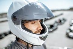 Portrait d'un coureur sur la voie photo libre de droits