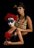 Portrait d'un crâne et d'un Indien d'Amerique de sucre Image libre de droits