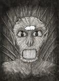 Portrait d'un démon d'imagination illustration stock