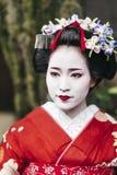 Portrait d'un geisha de Maiko en Gion Kyoto photographie stock libre de droits