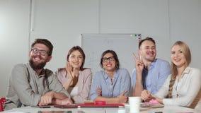Portrait d'un groupe de petite entreprise clips vidéos