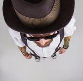 Portrait d'un hippie élégant image stock