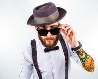 Portrait d'un hippie élégant photographie stock