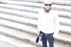 Portrait d'un hippie photo stock