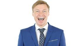 Portrait d'un homme d'affaires bel, sourire de Président photos stock