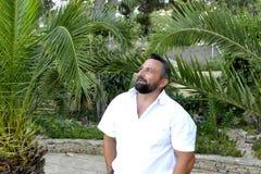 Portrait d'un homme avec la barbe Images libres de droits