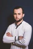 Portrait d'un homme avec un plan rapproché de barbe Images stock
