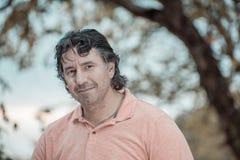 Portrait d'un homme bel en parc Photos libres de droits