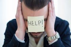 Portrait d'un homme d'affaires frustré Image stock